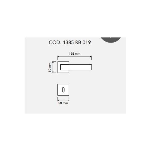 Klamka ALA 019 szyld kwadratowy VE czarny matowy LINEA CALI