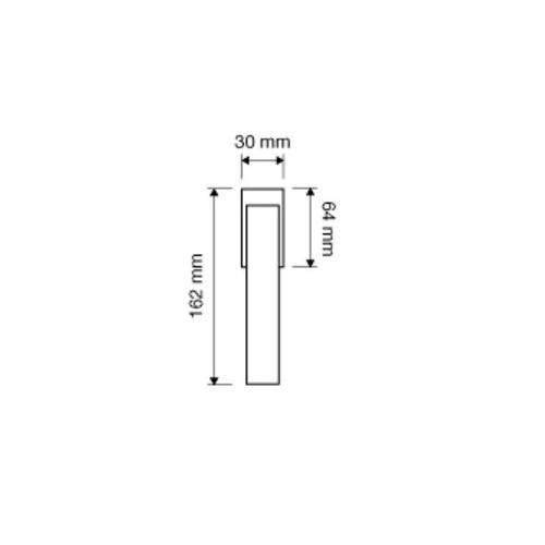 Klamka okienna ALA 4-skokowa DX/SX LINEA CALI