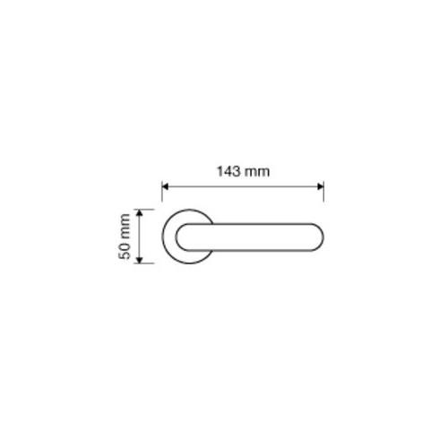 Klamka BETA 011 szyld okrągły CS chrom matowy LINEA CALI