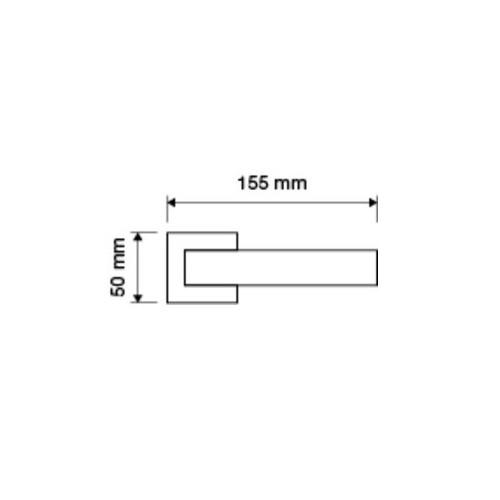 Klamka COMETA 019 szyld kwadratowy PV mosiądz tytanowany LINEA CALI