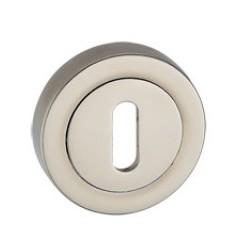 Rozeta okrągła RCK 601 satyna mat na klucz