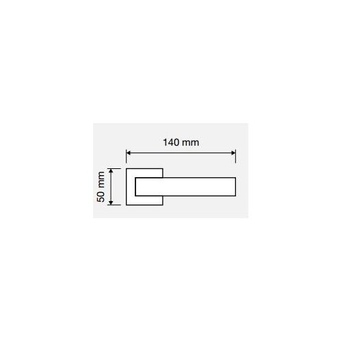 Klamka DAFNE 019 szyld kwadratowy CR chrom polerowany LINEA CALI