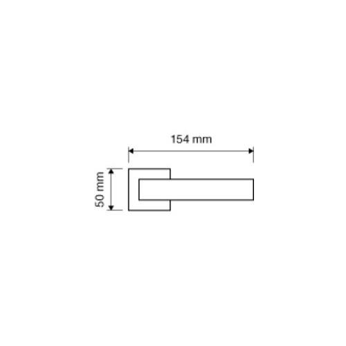 Klamka GIRO ZINCLAR 019 szyld kwadratowy CS chrom matowy LINEA CALI