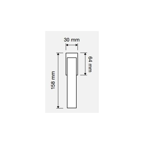Klamka okienna TRIO ZINCLAR 4-skokowa LINEA CALI