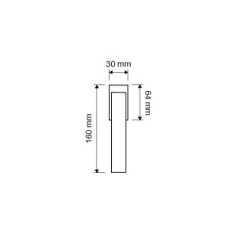 Klamka okienna GIRO ZINCLAR 4-skokowa LINEA CALI