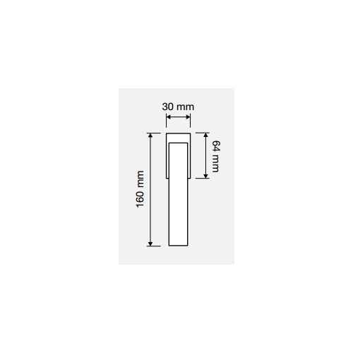 Klamka okienna CONICA ZINCLAR 4-skokowa LINEA CALI
