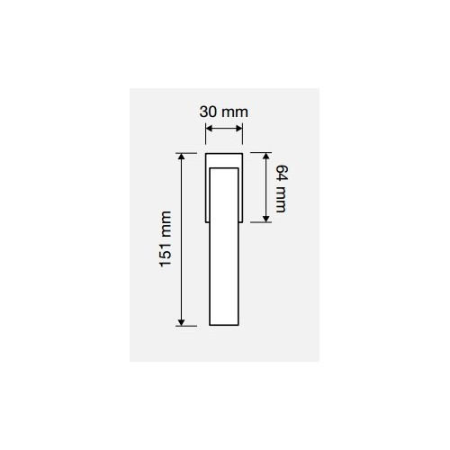 Klamka okienna CORNER ZINCLAR 4-skokowa LINEA CALI