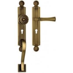 Gałko-Klamka DAISY z uchwytem drzwiowym długi szyld LINEA CALI