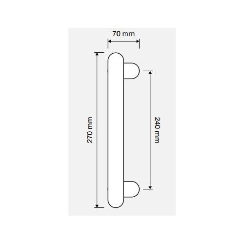 Uchwyt drzwiowy DELFINO 240mm LINEA CALI