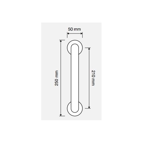 Uchwyt drzwiowy DIAMANTE 210mm na szyldach 103 LINEA CALI