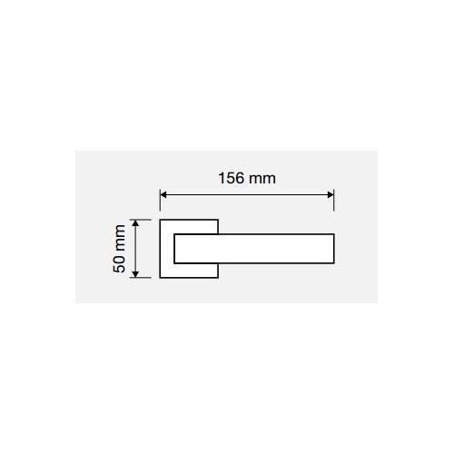 Klamka DUNA 019 BM brązowiony matowy LINEA CALI
