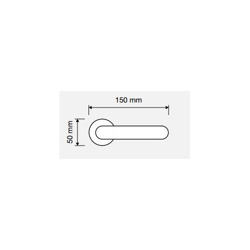 Klamka PIN UP 103 CS chrom matowy LINEA CALI