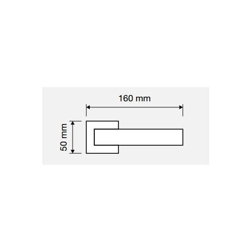 Klamka ROMBO 019 CR chrom polerowany LINEA CALI