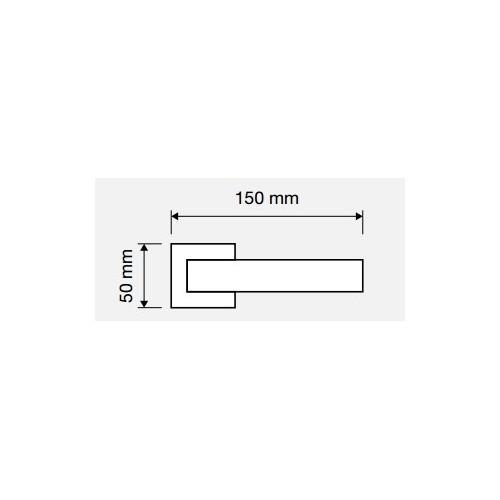 Klamka SINTESI 019 PV mosiądz tytanowany LINEA CALI