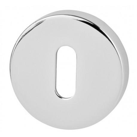 Rozeta okrągła R68 chrom na klucz