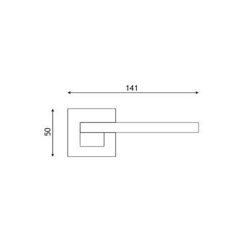 Klamka ESA chrom/biały kwadrat DND