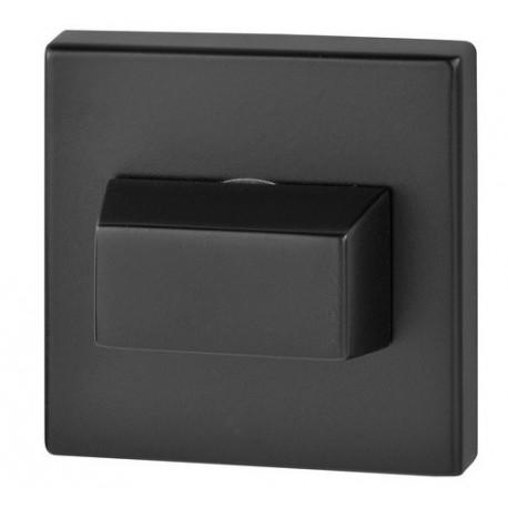 Blokada WC kwadrat R67 czarna VDS