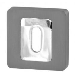 Rozeta kwadrat R62 antracyt/chrom na klucz VDS