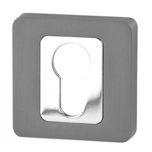 Rozeta kwadrat R62 antracyt/chrom na wkładkę VDS
