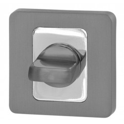 Blokada WC kwadrat R62 antracyt/chrom VDS