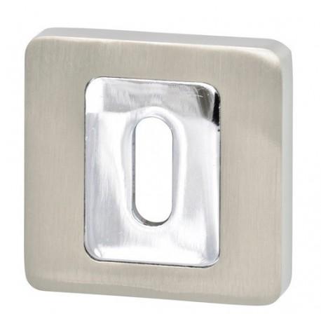 Rozeta kwadrat R62 nikiel-satyna/chrom na klucz VDS