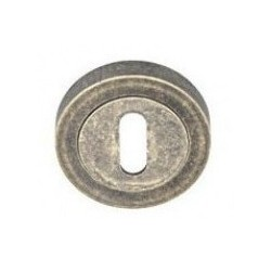 Rozeta okrągła R1 antyczny srebrny na klucz VDS