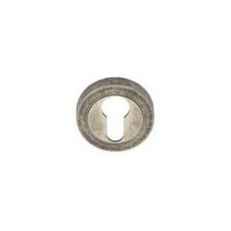 Rozeta okrągła R1 antyczny srebrny na wkładkę VDS