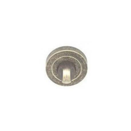 Blokada WC okrągła R1 antyczny srebrny VDS