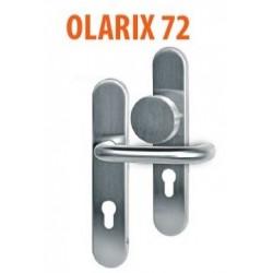 Gałko-Klamka OLARIX 72mm inox długi szyld VDS