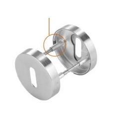 Rozeta okrągła R63 PRO inox na klucz VDS