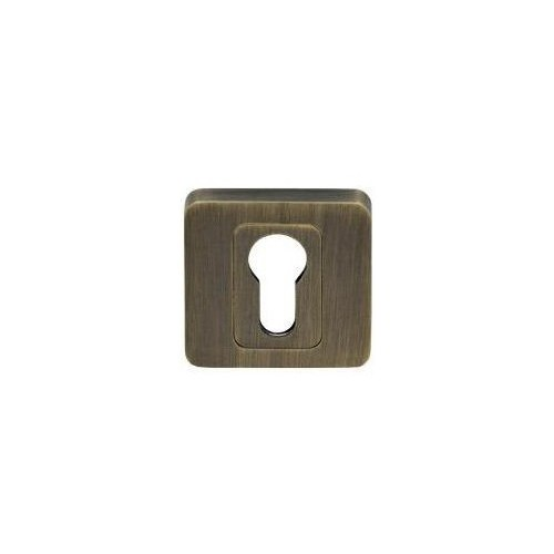 Rozeta kwadrat LK4 402S patyna wkładka KUCHINOX