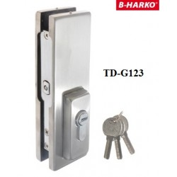Zamek dolny TD-G123 do drzwi szklanych HARKO