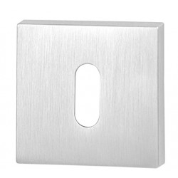 Rozeta kwadrat R46 chrom szczotkowany na klucz VDS