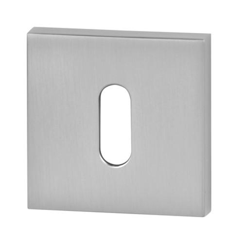 Rozeta kwadrat R65 chrom satyna na klucz VDS