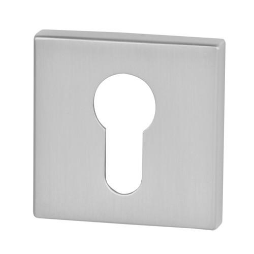 Rozeta kwadrat R65 chrom satyna na wkładkę VDS