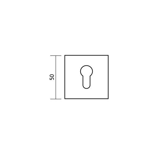 Rozeta kwadrat R35V power chrom satyna na wkładkę DND