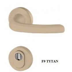 Klamka DIANA AXA PREMIUM FLEX z zabezpieczeniem szyld okrągły do drzwi zewnętrznych
