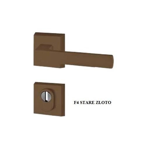 Klamka MARS AXA PREMIUM FLEX z zabezpieczeniem szyld kwadratowy do drzwi zewnętrznych
