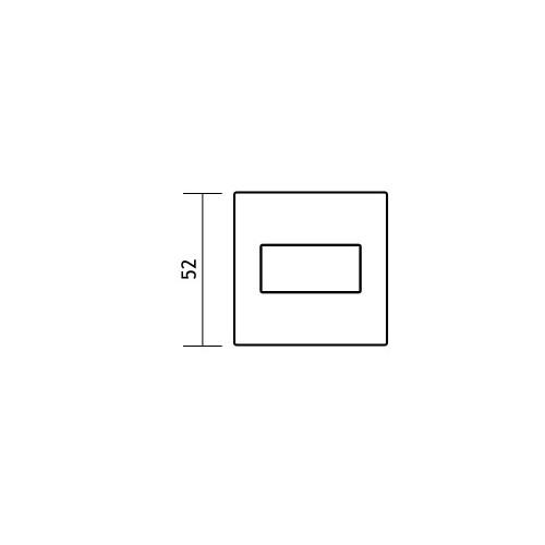 Blokada WC kwadrat R67 chrom VDS