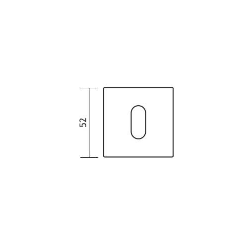 Rozeta kwadrat R67F chrom satyna na klucz VDS