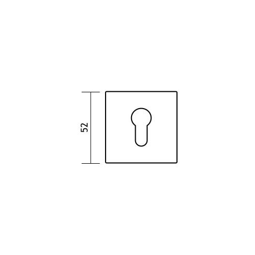 Rozeta kwadrat R67F chrom satyna na wkładkę VDS