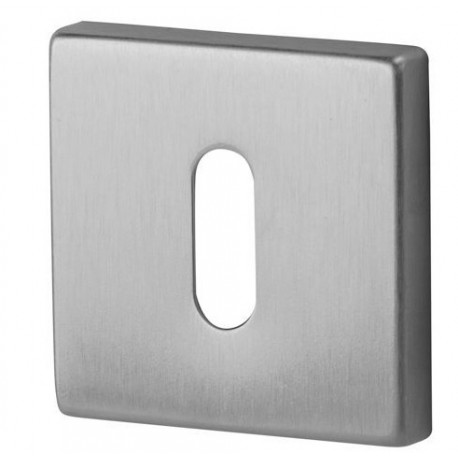 Rozeta kwadrat R35V chrom satyna na klucz DND