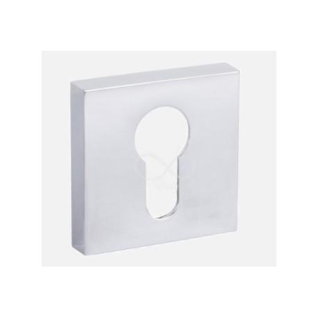Rozeta kwadrat RYQ 702 chrom na klucz