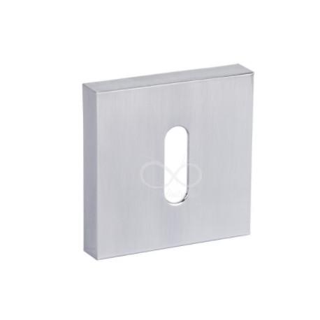 Rozeta kwadrat RYQ 701/MSC chrom matowy na klucz
