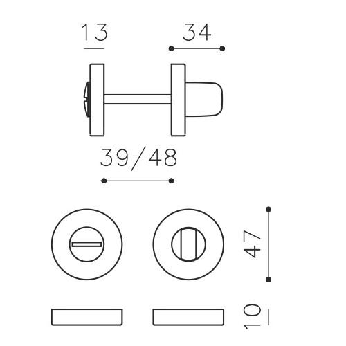 Klamka ASTER chrom/matowy czarny OLIVARI
