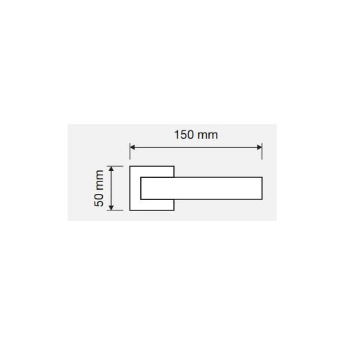 Klamka STREAM ZINCLAR 024 CS chrom matowy LINEA CALI