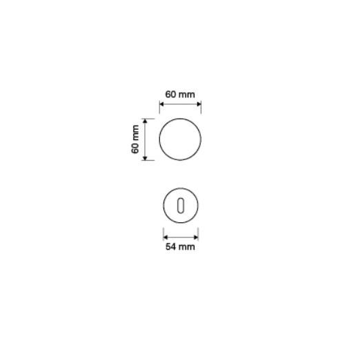 Gałka obrotowa ELIKA 108 (komplet) LINEA CALI