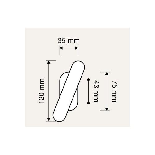 Klamka okienna ELIKA oliwka krótki szyld LINEA CALI