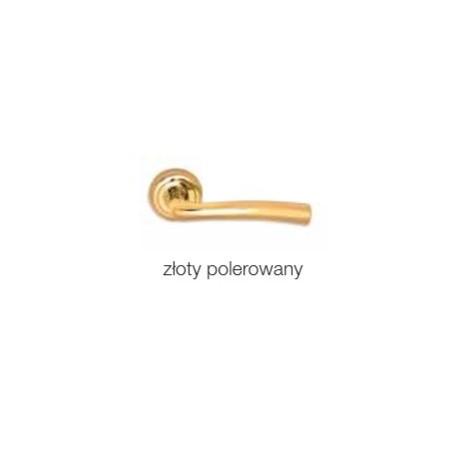 Klamka ALEXIA szyld okrągły złoty polerowany