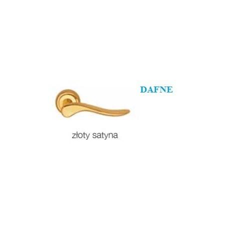 Klamka DAFNE szyld okrągły złoty satyna